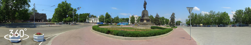 Панорама 360 градусов. Площадь Нахимова после реконструкции